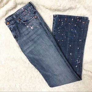 7 For All Mankind Ltd Edition Paint Splatter Jeans